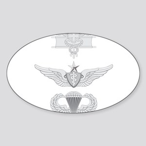 EFMB Flight Surgeon Senior Airborne Sticker (Oval)